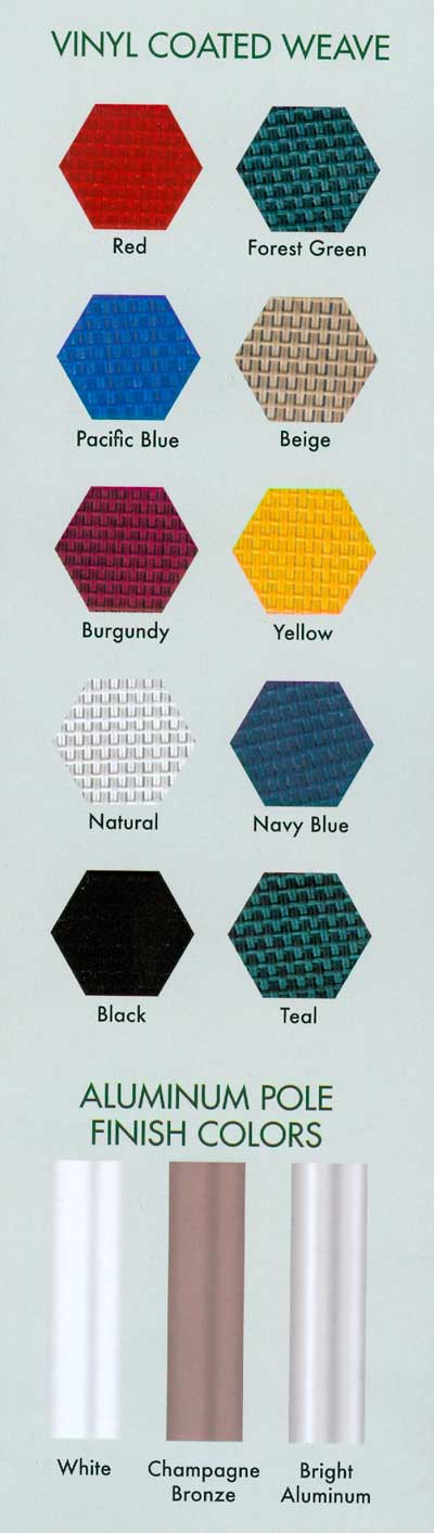 vinyl fabric colors