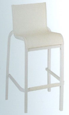 Stackable armless bar chair