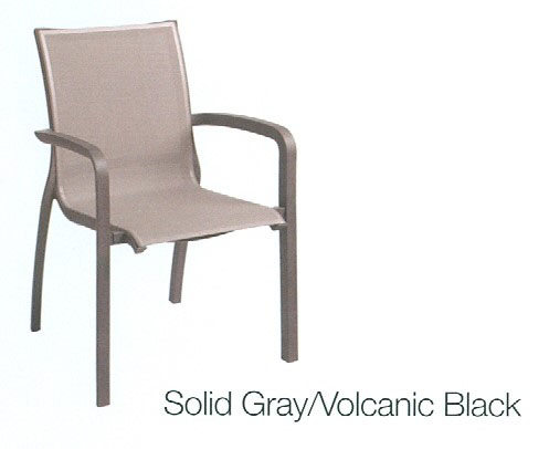 Sunset Chair Volcanic Black Grosfillex