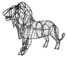 Lion Wire Topiary