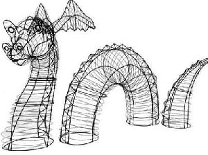 Nessie Dragon Wire Topiary