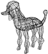 Poodle Wire Topiary
