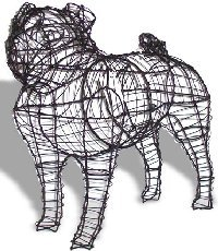 Pug wire topiary