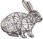 rabbit Hopping Wire Topiary