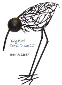 Twig Bird topiary by George