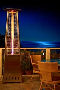 Outdoor radient glass tube heater