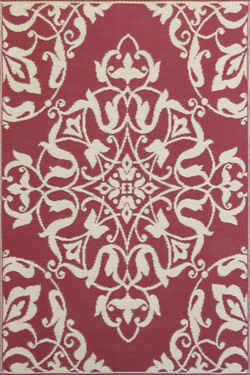 Mad Mat Rug Deep Red Wrought Iron