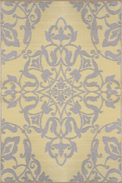 Soft Gold Wrought Iron Mad Mat Rug