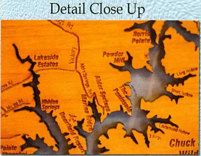 Detail Wooden Map
