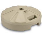 beige umbrella base