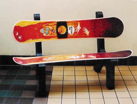 Snowboard Furniture