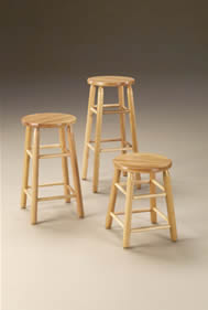 Wooden Round Top Stools