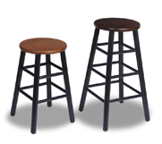 Round Top Wood Stools